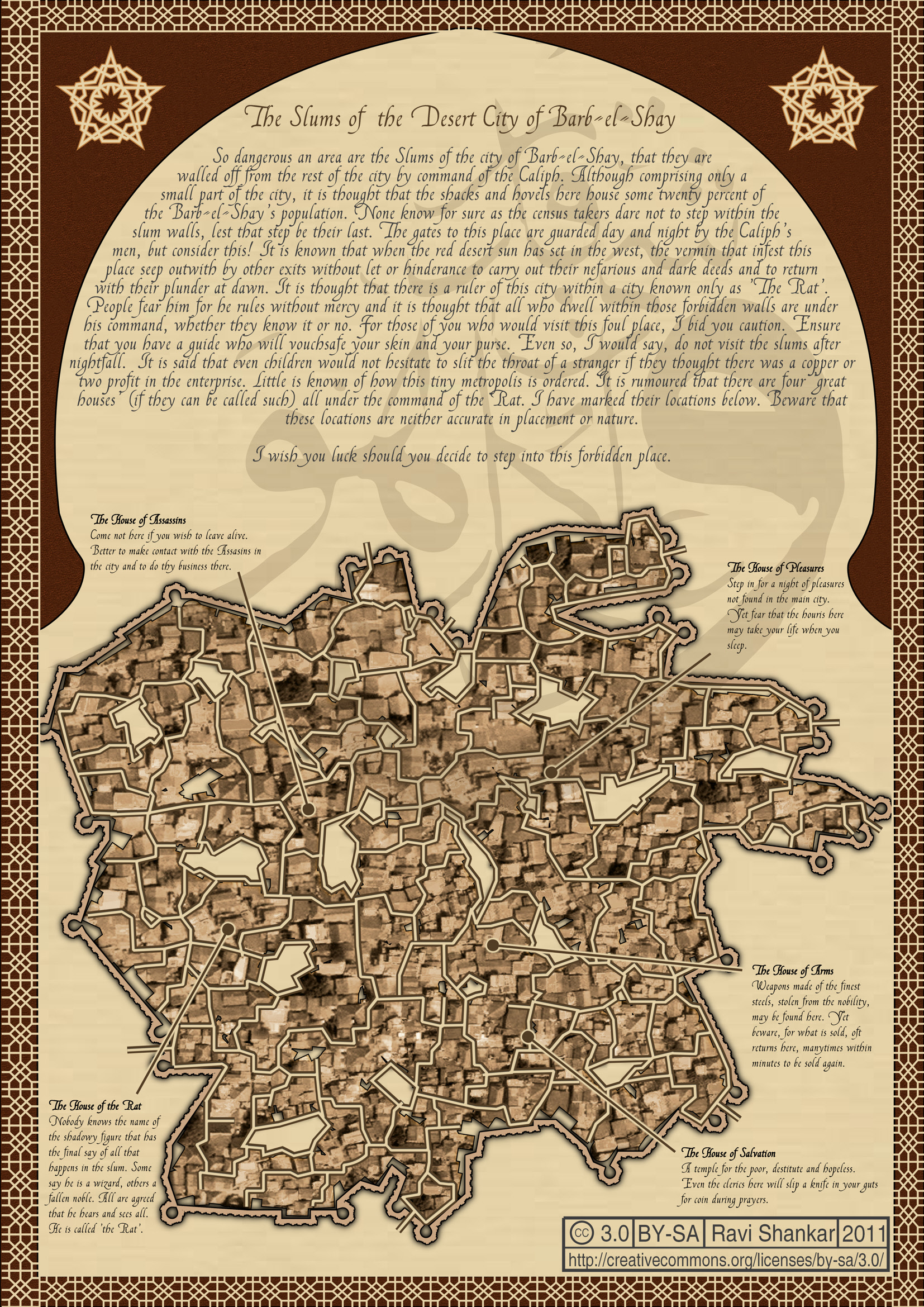 Campaign wiki dungeonmaps one page dungeon contest the slums of the desert city of barb el shay by ravi fandeluxe Choice Image