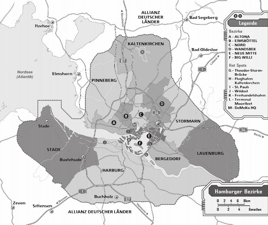 Karte von Hamburg 2072