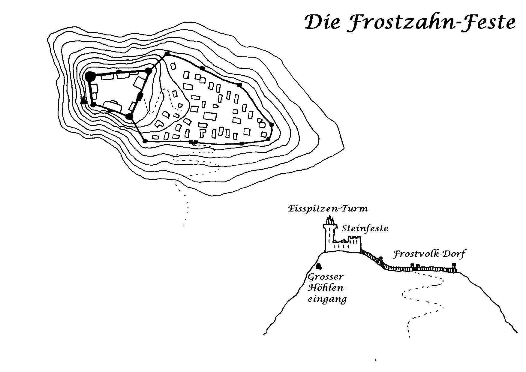 Plan der Frostzahn-Feste