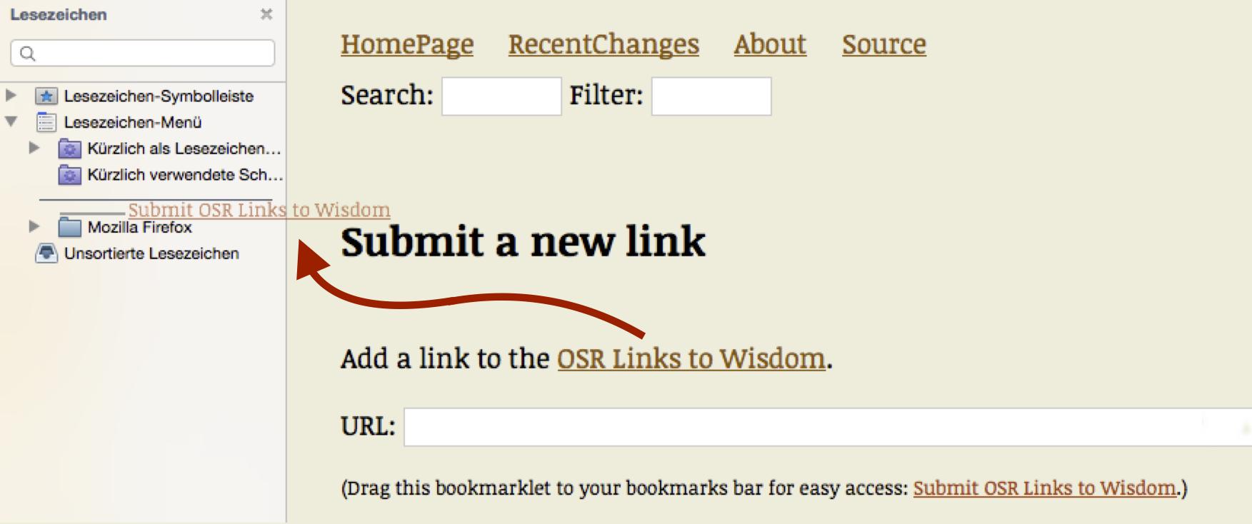 Bookmarklet Firefox