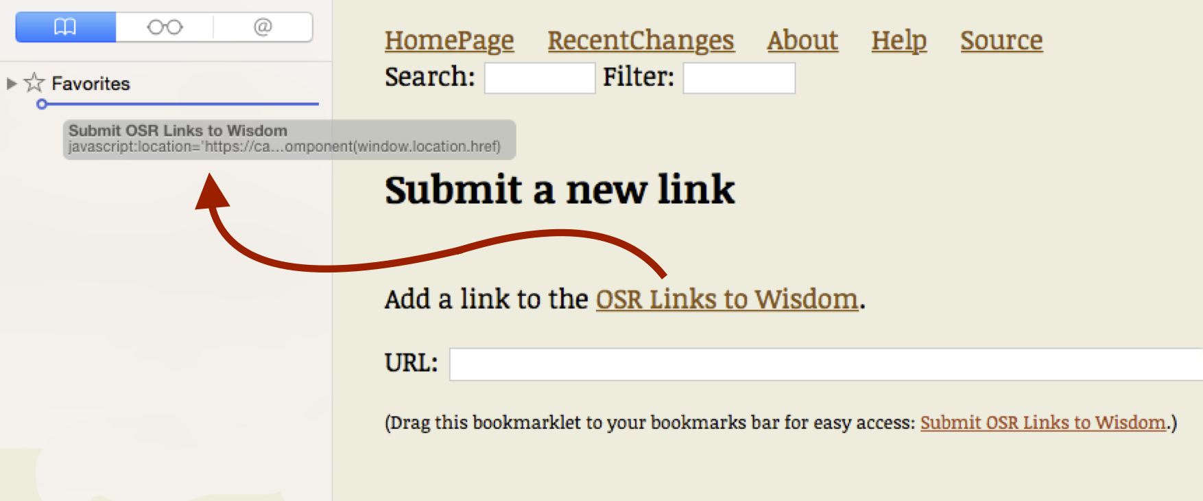 Bookmarklet Safari