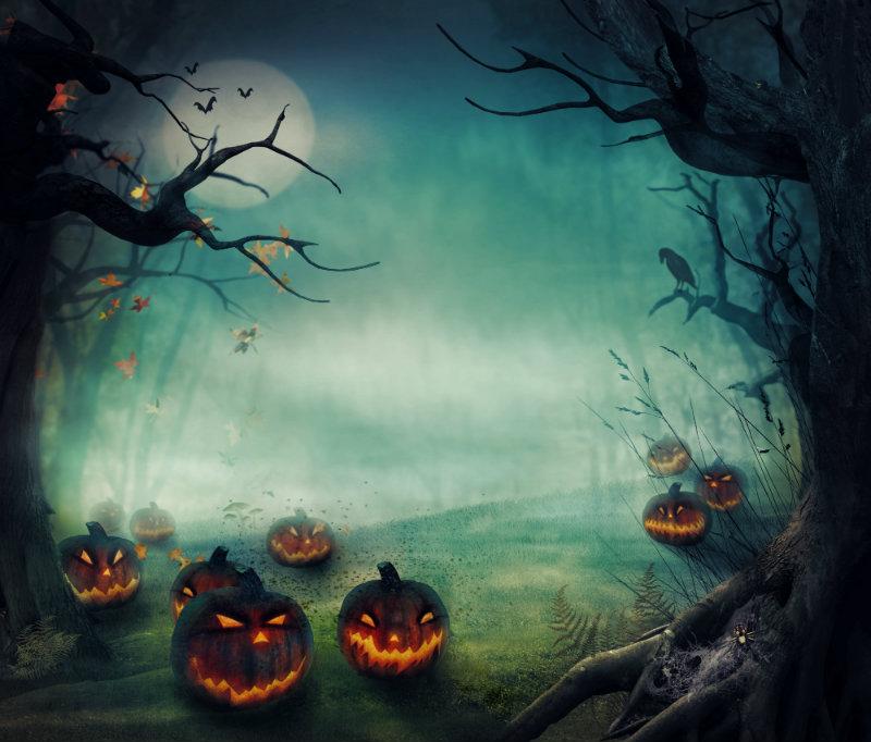 Haunted Pumpkin Background