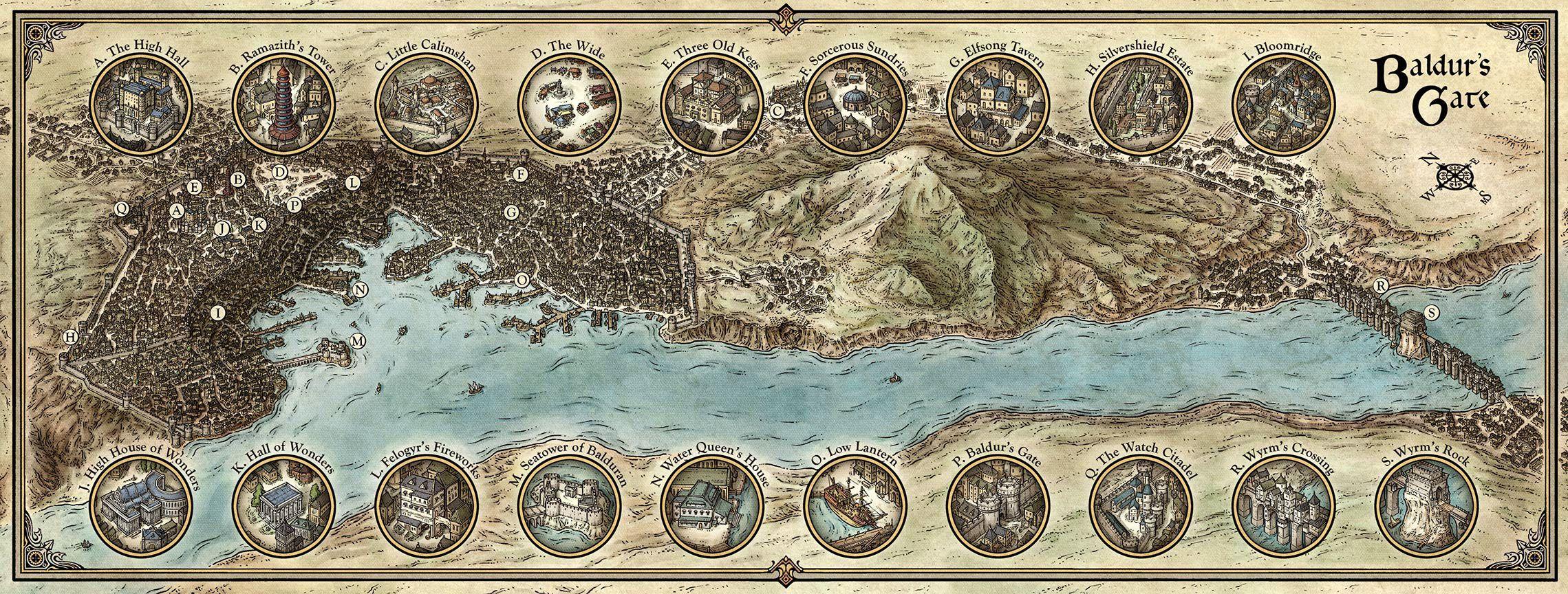 Baldurs Gate Map